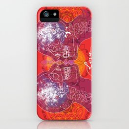 Cosmic Love - Red iPhone Case