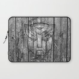 Autobot Monochrome Wood Texture Laptop Sleeve