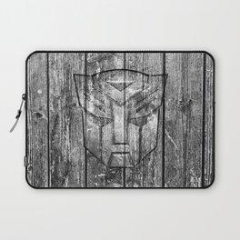 Autobot Monochrome Wood Texture Laptop Sleeve