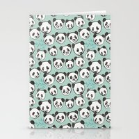 pandas Stationery Cards featuring Pandas by Abby Galloway