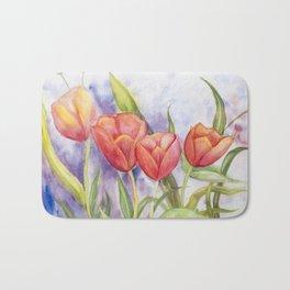 Diane L - Les tulipes Bath Mat