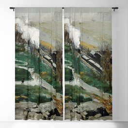 """George Wesley Bellows """"Rain on the River"""" Blackout Curtain"""