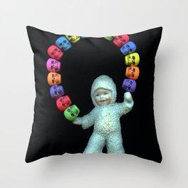 Skulls kid Throw Pillow