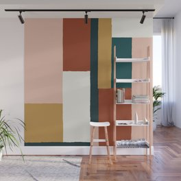 Spring Color Block Wall Mural
