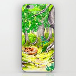 Fox in the Woods iPhone Skin