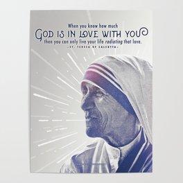 "Mother Teresa ""Radiating Love"" Poster"