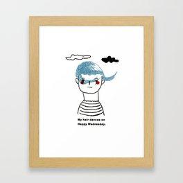 My hairdo Framed Art Print