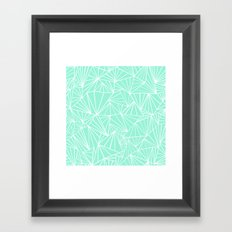 Ab Fan Mint Framed Art Print