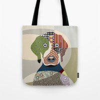 beagle Tote Bags featuring Beagle by Lanre Studio