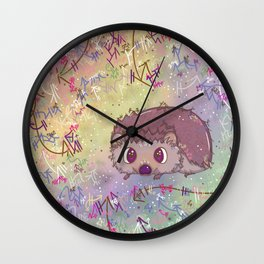 Happiest Little Hedgehog Wall Clock