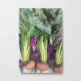 Colorful Food Beets Wall Art Metal Print