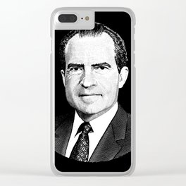 President Richard Nixon Graphic Clear iPhone Case