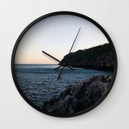 Over Sea Wall Clock