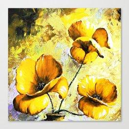 BIG YELLOW FLOWERS Canvas Print