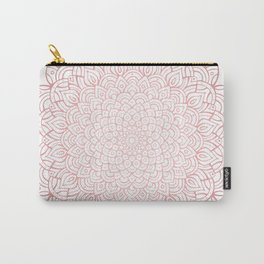 Earthy Rose Gold Blush - Unfolding Mandala Carry-All Pouch