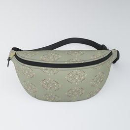 Woodland Animal Print on Forest Green Fanny Pack