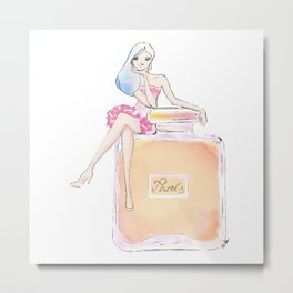 paris parfum girl Metal Print