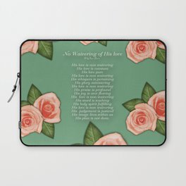 No Waivering of His love By Feon Davis Laptop Sleeve