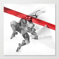 ninja Canvas Prints featuring NINJA by mobokeh