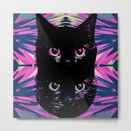 Black Cat Rising Metal Print