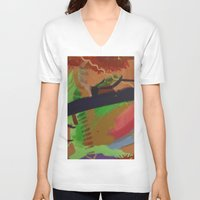 pain V-neck T-shirts featuring Pain by ErikMcManusInc.