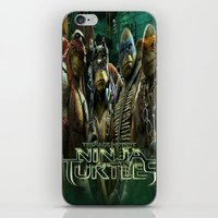 ninja turtle iPhone & iPod Skins featuring teen age,mutant,ninja turtle by store2u