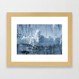 Close-up of a distinctive ice formation on the face of the Margerie Glacier Framed Art Print