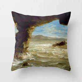 """Eugène Delacroix """"Shipwreck on the Coast"""" Throw Pillow"""