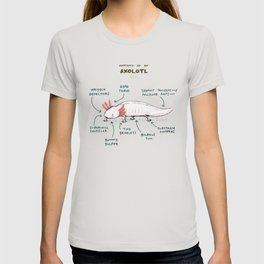 Anatomy of an Axolotl T-shirt
