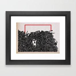 - migrants - Framed Art Print