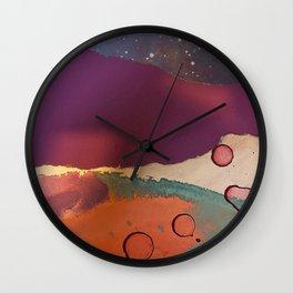 Wabi Sabi Mixed Media Wall Clock