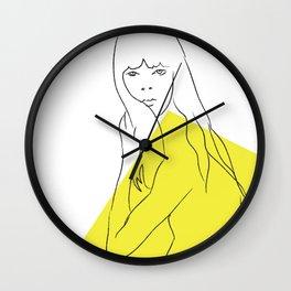 Yellow Portrait 1 Wall Clock