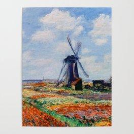 Claude Monet Tulip Field In Holland Poster