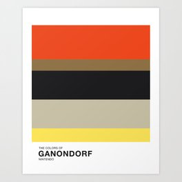 The Colors of Ganondorf Art Print