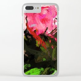 Rose Romantica Pink Flower Maelstrom Clear iPhone Case