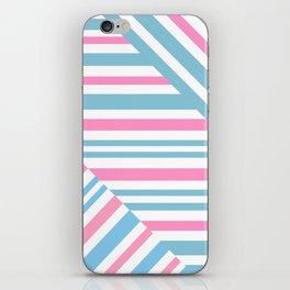 Geometric pattern. Striped triangles 2 iPhone Skin