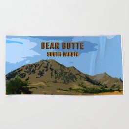 Bear Butte South Dakota Beach Towel