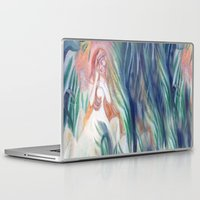 bianca green Laptop & iPad Skins featuring fata bianca by Francesca D'Angelo