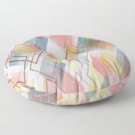 Watercolour Diamonds // Geometric diamond shapes in watercolour with rose gold metallics Floor Pillow