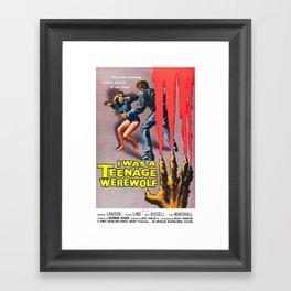 I Was A Teenage Werewolf Framed Art Print