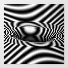 Black Hole Vertigo Canvas Print