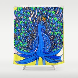 Peacock Art Jen Shower Curtain