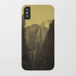 Yosemite Falls Tin Yellow iPhone Case