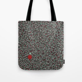Blue w/Red Accent Dot Color Design Tote Bag