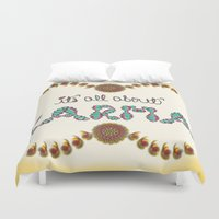 karma Duvet Covers featuring Karma by famenxt