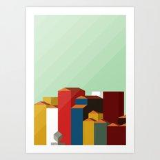 Cube Square - Porto Art Print