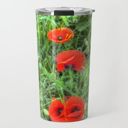 Summer Poppy Travel Mug