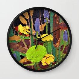 12,000pixel-500dpi - Tom Thomson - Water Flowers - Digital Remastered Edition Wall Clock