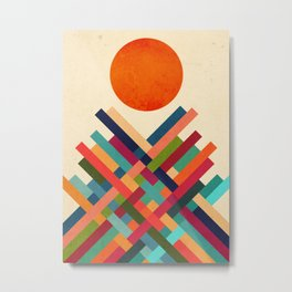 Sun Shrine Metal Print