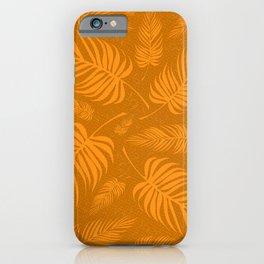 Leaves V2 ORANGE2 iPhone Case
